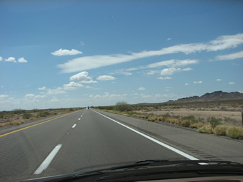 Interstate 8 between Gila Bend and Yuma, Arizona